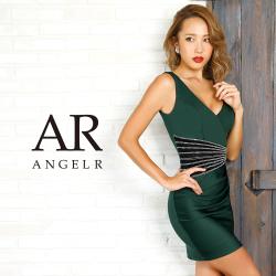 [ウエスト切替えビジューデザインタイトミニドレス]AngelR(エンジェルアール) AR9349