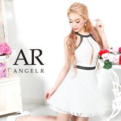 [ジャガードホルターネックフレアミニドレス]AngelR(エンジェルアール)|AR9406