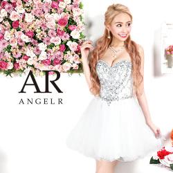 [ハートカットビジューフレアミニドレス]AngelR(エンジェルアール)|AR9407