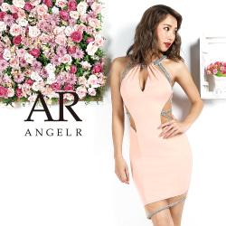 [デザインカットレッグシアータイトミニドレス]AngelR(エンジェルアール)|AR9817