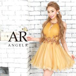 [リーフデザインビジューフレアミニドレス]AngelR(エンジェルアール)|AR9823