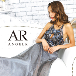 【予約】[フロントビジューデザインフレアロングドレス]AngelR(エンジェルアール)|AR9825【9月下旬~10月上旬頃より発送】