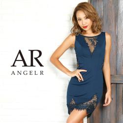 [フラワーデザインレースカットタイトミニドレス]AngelR(エンジェルアール)|AR9826