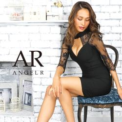 [ロングスリーブレースバンデージタイトミニドレス]AngelR(エンジェルアール)|AR9909
