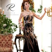 Angel R PREMIUM(エンジェルアールプレミアム)[ハートカット総スパンコールタイトロングドレス]ロングドレス ベアトップ スパンコール 高級 高品質 パーティー バースデー 披露宴 AP80701