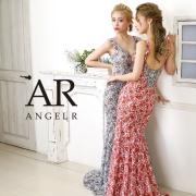 [フラワーパターンデザインビジューロングドレス]AngelR(エンジェルアール)|AR20207