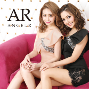 【予約】[ワンショルダービジューデザインタイトミニドレス]AngelR(エンジェルアール)|AR20209【4月上旬~中旬頃より発送】