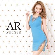【予約】[デコルテビジューカッティングメッシュタイトミニドレス]AngelR(エンジェルアール)|AR20212【4月上旬~中旬頃より発送】