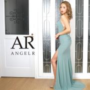 【予約】[バストビジュースリットタイトロングドレス]AngelR(エンジェルアール)|AR20214【4月上旬~中旬頃より発送】
