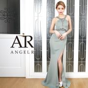 【予約】[ウエスト&デコルテVネックビジュータイトロングドレス]AngelR(エンジェルアール)|AR20215【4月中旬~下旬頃より発送】