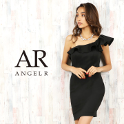 【予約】[ワンショルダーフリルタイトミニドレス]AngelR(エンジェルアール)|AR20217【8月中旬~下旬頃より発送】