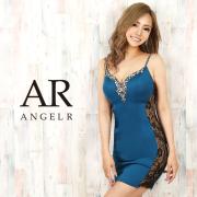 【予約(ホワイト/S)(ピンク/S・M)(ブルー/S)10月上旬から中旬発送】[サイドレースビジュータイトミニドレス]AngelR(エンジェルアール)|AR20219