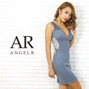 [サイドシアーフラワーレースデザインタイトミニドレス]AngelR(エンジェルアール) AR20302