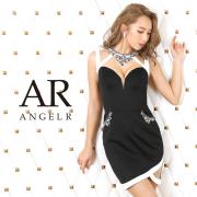 【予約】[デコルテビジューバイカラータイトミニドレス]AngelR(エンジェルアール)|AR20315【4月上旬~中旬頃より発送】
