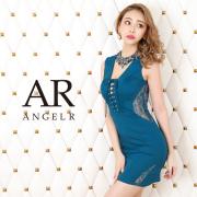 【予約】[デコルテビジューレースアップタイトミニドレス]AngelR(エンジェルアール)|AR20316【4月上旬~中旬頃より発送】