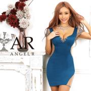 [ビジューメッシュスリーブタイトミニドレス]AngelR(エンジェルアール)|AR20328