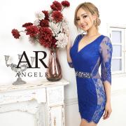 [レーススリーブウエストビジュータイトミニドレス]AngelR(エンジェルアール)|AR20329