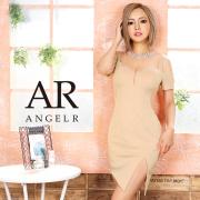[シアーパターンオープンショルダータイトミニドレス]AngelR(エンジェルアール)|AR20335