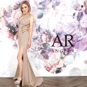 [ウエストラインビジューデザインタイトロングドレス]AngelR(エンジェルアール)|AR20337