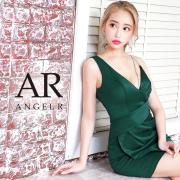 [アシンメトリーデコルテビジュータイトミニドレス]AngelR(エンジェルアール) AR20346