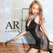 [デコルテビジューサイドレースタイトミニドレス]AngelR(エンジェルアール) AR20348