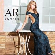 [サイドメッシュパールフラワーパターンロングドレス]AngelR(エンジェルアール) AR20350
