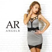 【予約】[ウエストフラワーレースタイトミニドレス]AngelR(エンジェルアール) AR20802【1月下旬~2月上旬頃より発送】