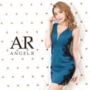 【予約】[フラワーレースVネックタイトミニドレス]AngelR(エンジェルアール)|AR20810【4月上旬~中旬頃より発送】