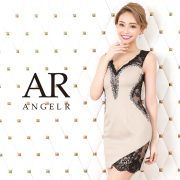 【予約】[フラワーレースビジュータイトミニドレス]AngelR(エンジェルアール)|AR20813【4月上旬~中旬頃より発送】