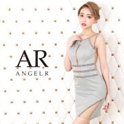 [フロントラインビジューカッティングメッシュタイトミニドレス]AngelR(エンジェルアール)|AR20814