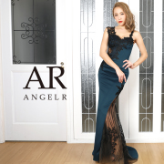 【予約】[アシンメトリーショルダーレースタイトロングドレス]AngelR(エンジェルアール)|AR20816【4月中旬~下旬頃より発送】