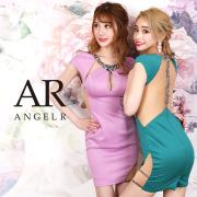 [ビジュー&メッシュカッティングタイトミニドレス]AngelR(エンジェルアール)|AR20824