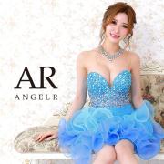 [ビジュー&ストーンオーガンジーフレアミニドレス]AngelR(エンジェルアール) AR21204