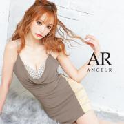 【予約/7月下旬から8月上旬より発送】[フロントドレープビジュータイトミニドレス]AngelR(エンジェルアール)|AR21221