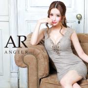 [バストビジューフラワーレースデザインタイトミニドレス]AngelR(エンジェルアール)|AR21303