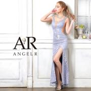 【予約】[ピンク・ホワイト・ブルー/Sサイズ][ホワイト・ブルー/Mサイズ]10月中旬から10月下旬より発送[レース刺繍デザインビジュータイトロングドレス]AngelR(エンジェルアール)|AR21308