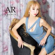【予約/7月中旬から7月下旬より発送】[ビジューチェーンファスナータイトミニドレス]AngelR(エンジェルアール)|AR21326