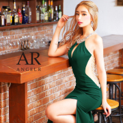 [バックメッシュビジュータイトロングドレス]AngelR(エンジェルアール)|AR21334