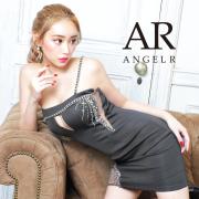 [アシンメトリービジューデザインワンショルダータイトミニドレス]AngelR(エンジェルアール) AR21803