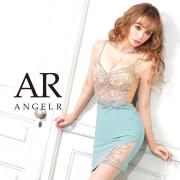 予約[(ホワイト)(ベージュ)(グリーン)/XSサイズ][(ホワイト)(ベージュ)(グリーン)/Sサイズ][(モカ)(グリーン)/Mサイズ]【4月下旬から5月上旬発送】[フロントビジューメッシュタイトミニドレス]AngelR(エンジェルアール)|AR21804