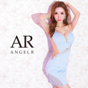 【予約】[オーシャンブルー/XSサイズ][サックス・オーシャンブルー/Sサイズ][サックス・オーシャンブルー/Mサイズ]7月下旬から8月上旬より発送[フロントビジューデザインタイトミニドレス]AngelR(エンジェルアール)|AR21811