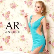 【予約/5月上旬から中旬より順次発送】[Vカットビジューサイドシアータイトミニドレス]AngelR(エンジェルアール)|AR21813
