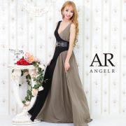 [バイカラーウエストベルトロングドレス]AngelR(エンジェルアール)|AR21825