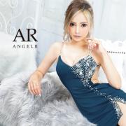 【予約/10月中旬から10月下旬より発送】[アシンメトリービジューデザインタイトミニドレス]AngelR(エンジェルアール)|AR21837