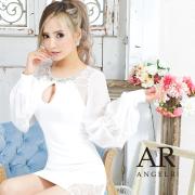 【予約/10月上旬から10月中旬より発送】[シースルーレースロングスリーブタイトミニドレス]AngelR(エンジェルアール)|AR21840