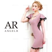 【予約】[サイドレースシアーフレアスリーブタイトミニドレス]AngelR(エンジェルアール)|AR9206【3月下旬〜4月上旬頃より発送】