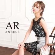 【予約】[レースアシンメトリータイトミニドレス]AngelR(エンジェルアール)|AR9209【3月下旬〜4月上旬頃より発送】