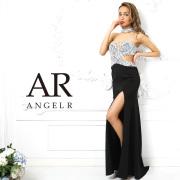 【予約】[チョーカー付きサイドデザインカットタイトロングドレス]AngelR(エンジェルアール)|AR9217【5月下旬〜6月上旬頃より発送】
