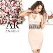 [ウエストメタリックビジューデザインカットタイトミニドレス]AngelR(エンジェルアール)|AR9221
