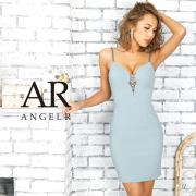[バストビジューノースリーブタイトミニドレス]AngelR(エンジェルアール)|AR9226